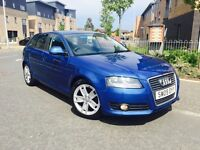 AUDI A3 2.0 TDI 140 SPORT BACK 6 SPD 2009 NEW SHAPE MOT 9 MNTH FULL SERVICE HISTORY AND TIMING BELT