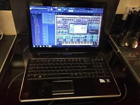 Hp laptop with music production software