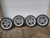 """Bmw 18"""" alloy wheels z4 3series e9* with tyres"""