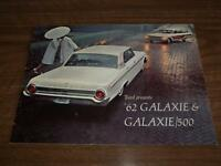 BROCHURE AUTO FORD GALAXIE ( 1962 )