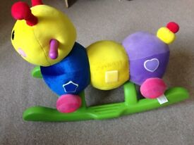 Used sit on caterpillar toy
