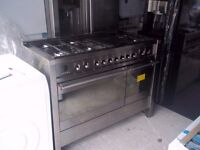 SMEG A3 - 7 NEW EX DISPLAY DUAL FUEL STAINLESS STEEL RANGE COOKER