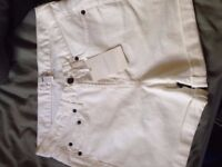 The White Company White Denim Shorts