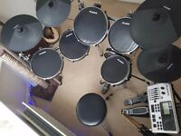 ALESIS DM10X DOUBLE BASS ELECTRONIC DRUM KIT W/ SONY MDR-7506 HEADPHONES