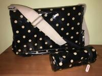 Cath Kidston Change Bag - Black/ Cream 👜👶🏻🖤