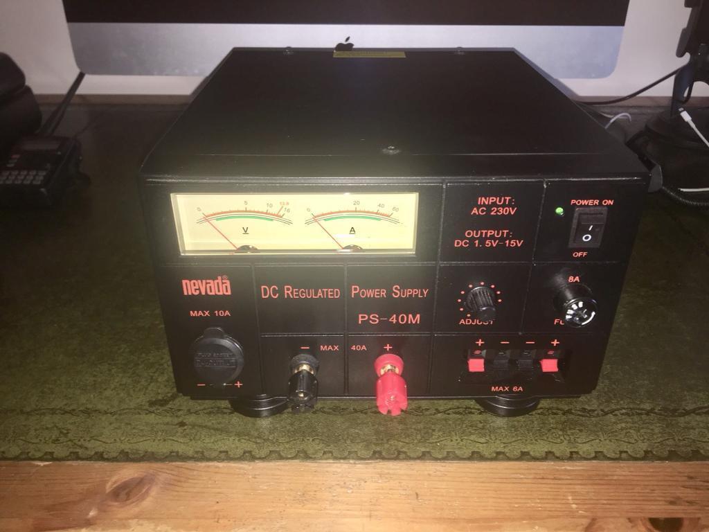 NEVADA PS-40m 40amp amateur radio power supply.