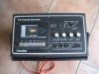COOMBER PA CASSETTE RECORDER