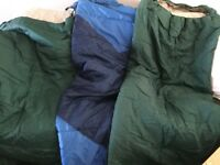 2 sleeping bags green