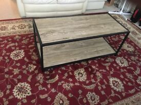 Wooden Coffee Table With A Set Of 3 Side Tables