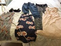 Maternity summer clothes bundle size 8/10