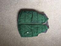 green gilet 9-12 months £7