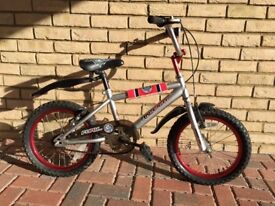 Raleigh Fury 16in. BMX bike + extras - very good condition