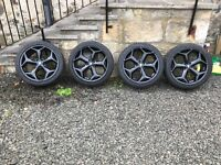 """4 x 18"""" ST alloy Wheels with tyres."""