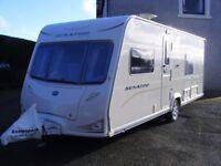 Touring caravan 4 berth BAILEYS CALIFORNIA SERIES 6 2009 (Fixed Bed) & NEW Dorema XL full awning