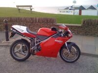 Ducati 748 Biposto Red Ohlins suspension Full Ducati Corse carbon Extras. Summer use only