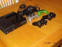 X BOX 360 E CONSOLE model 1538 250GB plus 14 games