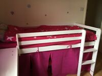 Single mid sleeper with slide, mattress and tent