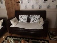 2 and 3 seater leater sofas
