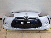 GRNUINE CITROEN DS3 FRONT BUMPER OFF WHITE