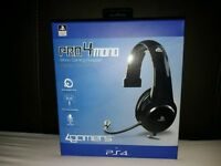 4GAMERS Pro-4 mono PS4 headset (BLACK) **CAN POST**