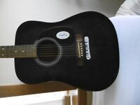 Guitar-Acoustic-hardly used as new-GBP 20.00 only color is blueish black shade.