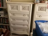 Laura Ashley Bramley Chest of Drawers to include dismantled Wardrobe
