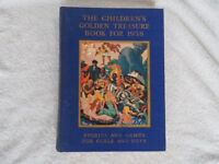 The Children's Golden Treasure Book for 1938 stories and games for girls & boys