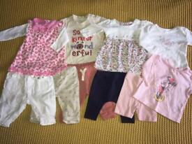 0-3 months baby bundle dress, leggings, Tshirts