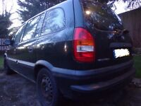 2002 7 seater vauxhall zafira 1.6 for spares or repairs but drives well DRIVEAWAY
