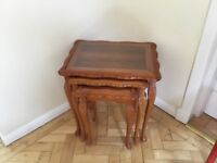 Nest of Three Yew Tables