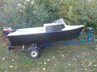 11FT BONWITCO SPEED /FISHING BOAT 15 HP OUTBOARD ENGINE.