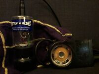 Bottle o Blues Harmonica Microphone and smokey ampmp