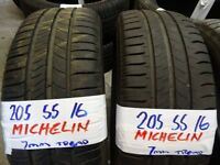 MATCHING SETS of 205 55 16 michelins 7mm tread £25each or £90 SET SUP & FITD (loads more av} TXT S