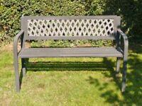 Lightweight Black Aluminium Garden Bench / Seat / Chair Garden Furniture