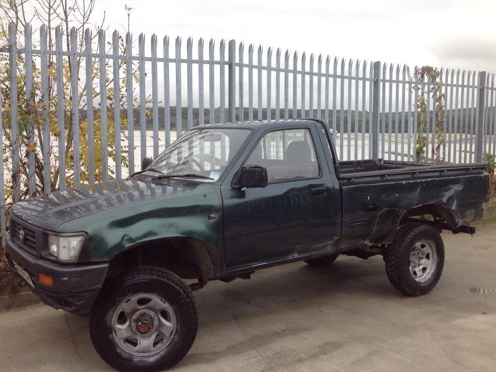 toyota hilux single cab 4x4 2.5 diesel manual green | in keighley