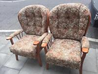 Pair of Armchairs- free local delivery