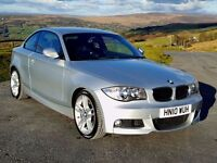 2010 BMW 120 D MSport Coupe Diesel, 49k, New MOT, New Tyres, Just Serviced, Half Leather, Climate...