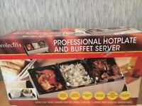 BRAND NEW UNBOXED PROFESSIONAL HOTPLATE & BUFFET SERVER FANTASTIC QUALITY BARGAIN!!!!!!!!