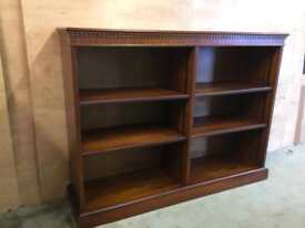 Solid wood effect bookcase
