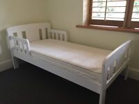 John Lewis Boris Toddler Bed and Mattress as new condition