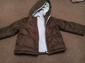 Boys fleece lined coat age 2-3