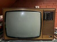 Retro wooden panel tv
