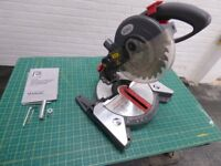 Performance 240V 210mm 1200W Compound Mitre Power Saw with laser line generator & instruction guide