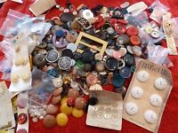 Large Selection of Assorted Vintage Buttons