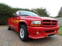 American pick up truck. Dodge Dakota Stampede 4.7 litre auto v8 in red.