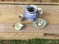 Selection of quimper pottery and other makers