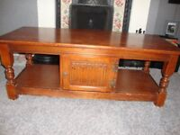 OLD CHARM OCCASIONAL LONG TABLE SOLID OAK