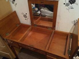 Antique Dressing Table with Mirror when opened!