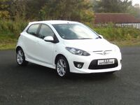 MAZDA 2 1.5 SPORT 5 DOOR WHITE 12 MONTHS M.O.T 6 MONTHS WARRANTY (FINANCE AVAILABLE)