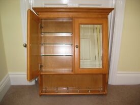 Heritage Dorchester Pine Bathroom Cabinet with Mirror fronted doors